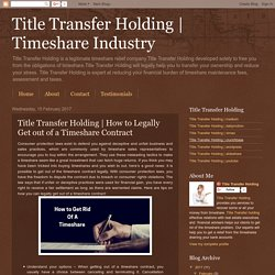 How to Legally Get out of a Timeshare Contract