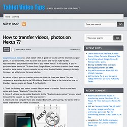 How to transfer videos, photos on Nexus 7?