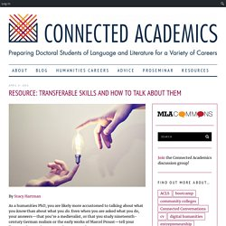 Resource: Transferable Skills and How to Talk about Them