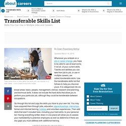 Examples of Transferable Skills - Short List of Transferable Skill