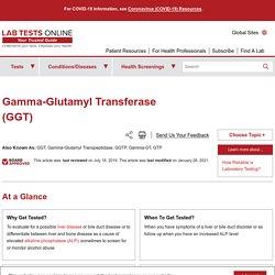 Gamma-Glutamyl Transferase (GGT) - Understand the Test & Your Results