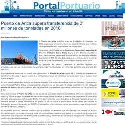 Puerto de Arica supera transferencia de 3 millones de toneladas en 2016 - Portal Portuario