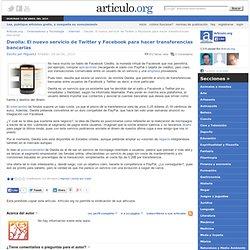 Dwolla: El nuevo servicio de Twitter y Facebook para hacer transferencias bancarias - Internet