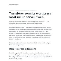 Transférer son site wordpress local sur un serveur web