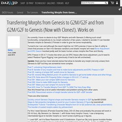 Transferring Morphs from Genesis to G2M/G2F and from G2M/G2F to Genesis (Now with Clones!). Works on - DAZ Forums