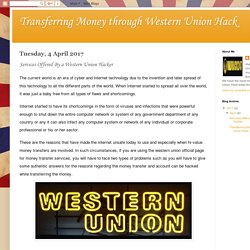 Transferring Money through Western Union Hack: Services Offered By a Western Union Hacker