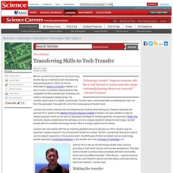 Transferring Skills to Tech Transfer