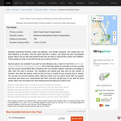 Transfers from Gold Coast airport to Brisbane International Airport