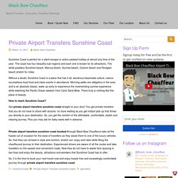Private Airport Transfers Sunshine Coast