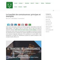 Le transfert de connaissances: principes et exemples - Equipe Renard