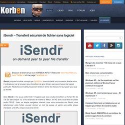 iSendr – Transfert sécurisé de fichier sans logiciel