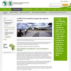 La BAD et les transferts d'argent des migrants africains