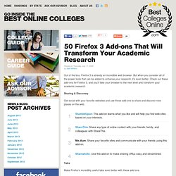 50 Firefox 3 Add-ons That Will Transform Your Academic Research