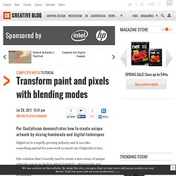 Transform paint and pixels with blending modes