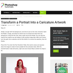 Transform a Portrait Into a Caricature Artwork - Page 2 of 2 - Photoshop Tutorials