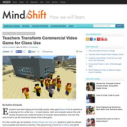 Teachers Transform Commercial Video Game for Class Use