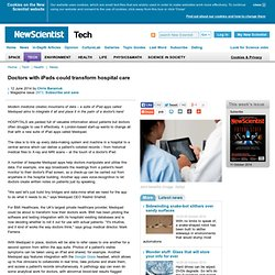 Doctors with iPads could transform hospital care - tech - 12 June 2014