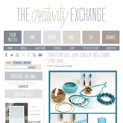 Transform Old Junk Jewelry with Enamel Spray Paint…