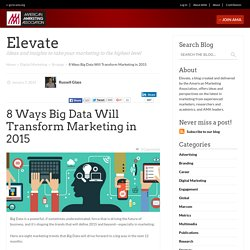 8 Ways Big Data Will Transform Marketing in 2015