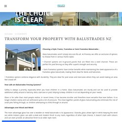 Transform Your Property with Balustrades NZ - Provista