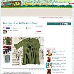 Transform Your T-Shirt Into A Tunic