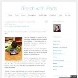 Using iPads to Transform Teaching and Learning