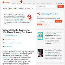 Using HTML5 To Transform WordPress' TwentyTen Theme - Smashing Magazine