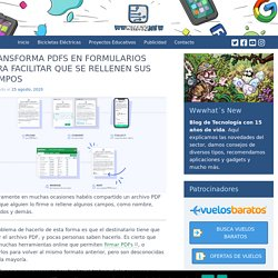 Transforma PDFs en formularios para facilitar que se rellenen sus campos