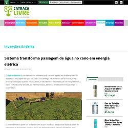 Sistema transforma passagem de água no cano em energia elétrica