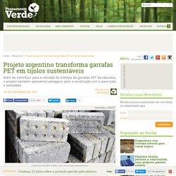 Projeto argentino transforma garrafas PET em tijolos sustentáveis