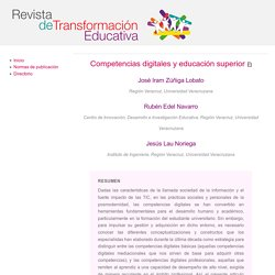 Revista de Transformación Educativa - Competencias digitales y educación superior