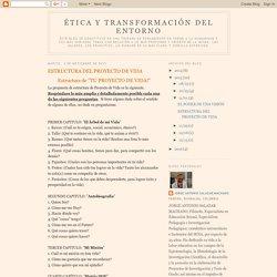 Ética y Transformación del Entorno: ESTRUCTURA DEL PROYECTO DE VIDA