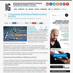 Herramientas Social Media y Plataformas Online: 11 nuevas herramientas