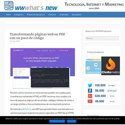 Transformando páginas web en PDF con un poco de código