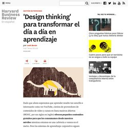 'Design thinking' para transformar el día a día en aprendizaje