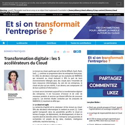 Transformation digitale : les 5 accélérateurs du Cloud