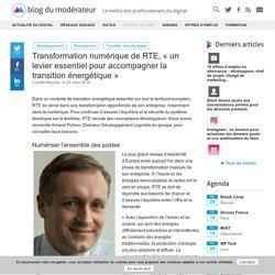 """Transformation numérique de RTE, """"un levier essentiel pour accompagner la transition énergétique"""""""