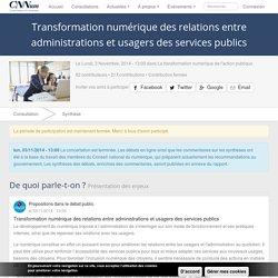 Transformation numérique des relations entre administrations et usagers des services publics