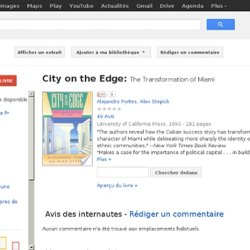 City on the edge: the transformation ...