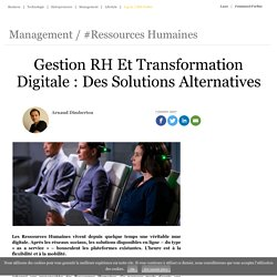 0117 Gestion RH Et Transfo Digitale : Des Solutions Alternatives
