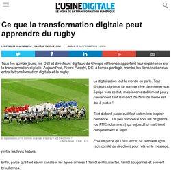 Ce que la transformation digitale peut apprendre du rugby