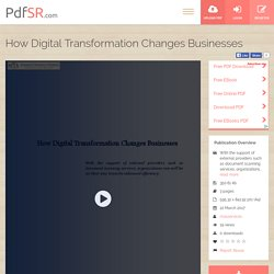 How Digital Transformation Changes Businesses