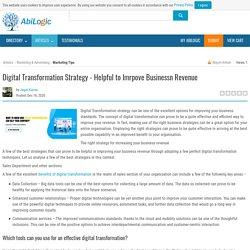 Digital Transformation Strategy - Helpful to Imrpove Businessn Revenue