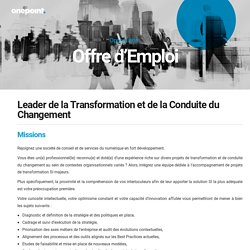 Leader de la Transformation et de la Conduite du Changement