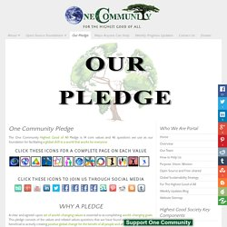 Highest Good of All Global Transformation Pledge
