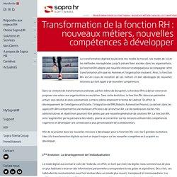 Transformation de la fonction RH - nouveaux métiers, nouvelles compétences à développer