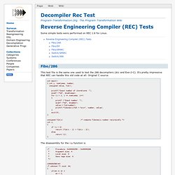 Decompiler Rec Test