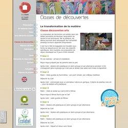La transformation de la matière - Classes de découvertes - Centre d'accueil et hébergement, séjour groupes, scolaires, classes découvertes dans les Cévennes - Gard - Éthic Étapes - Le Cart