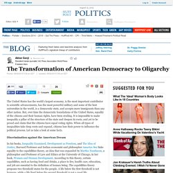 The Transformation of American Democracy to Oligarchy