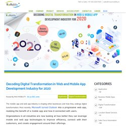 Decoding Digital Transformation in Web and Mobile App Development Industry for 2020